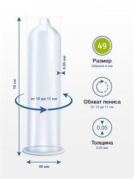 Презервативы MY.SIZE размер 49 - 3 шт.