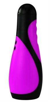 Фиолетовый мастурбатор с вибрацией