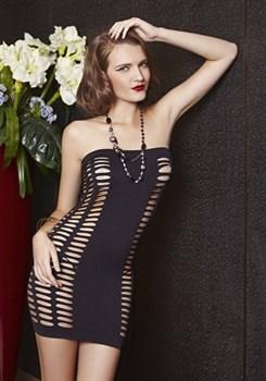 Облегающее платье без бретелей с ячейками
