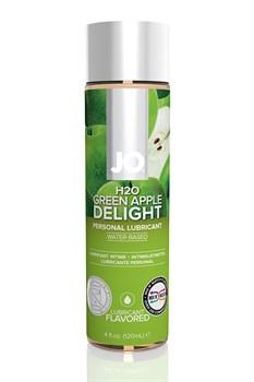 Ароматизированный лубрикант на водной основе JO Flavored  Green Apple H2O - 120 мл.