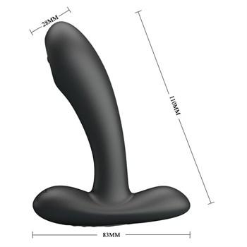 Черный массажер простаты с волновой стимуляцией Remington - 11 см.