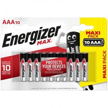 Батарейки Energizer MAX AAA/LR03 1.5V - 10 шт.