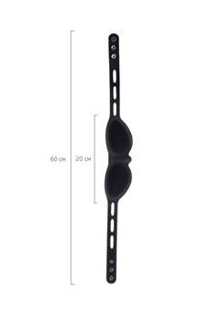 Черная плотная силиконовая маска