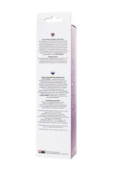 Фиолетовый двусторонний фаллоимитатор Tanza - 27,5 см.