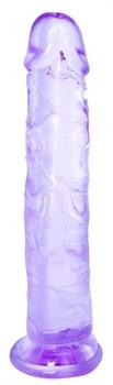 Фиолетовый фаллоимитатор Distortion - 18 см.