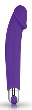 Фиолетовый вибратор Rechargeable IJOY Silicone Dildo - 16,5 см.