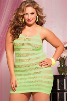 Сексуальное облегающее платье-сетка в полоску