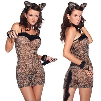 Сексуальное платье тигрицы