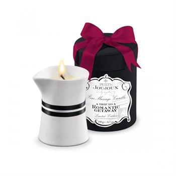 Массажное масло в виде большой свечи Petits Joujoux Romantic Getaway с ароматом имбирного печенья
