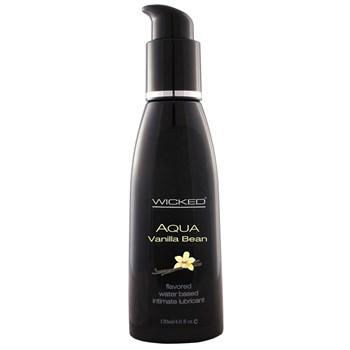 Лубрикант со вкусом ванильных бобов Wicked Aqua Vanilla Bean - 120 мл.