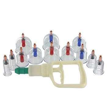 Набор из 12 вакуумных помп Sukshen 12 Piece Cupping Set