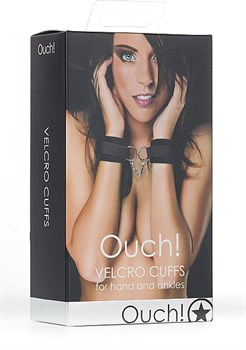 Черные наручники Velcro Cuffs