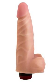 Реалистичный виброфаллос из неоскин - 18,5 см.
