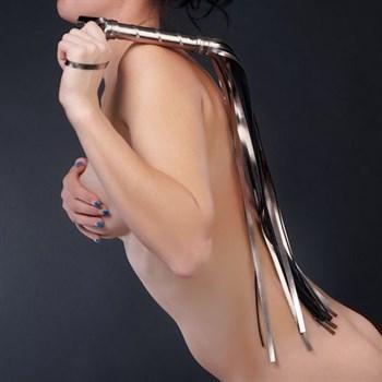 Бронзовая многохвостая плеть - 65 см.