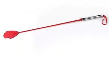 Красный стек с металлической хромированной  ручкой - 62 см.