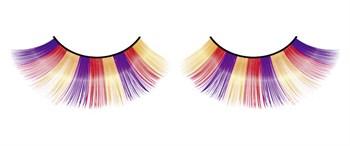 Фиолетово-оранжево-желтые пушистые ресницы