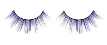 Чёрно-фиолетовые ресницы разной длины
