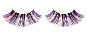 Фиолетово-черно-желтые пушистые ресницы