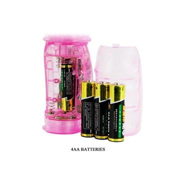Розовый вибратор-ротатор Rabbit - 26 см.