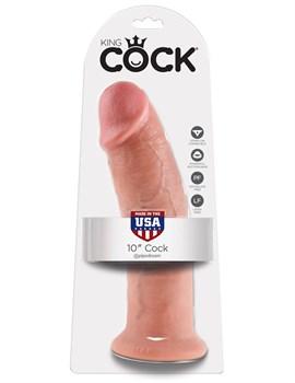 Большой фаллоимитатор 10  Cock на присоске - 25,4 см.