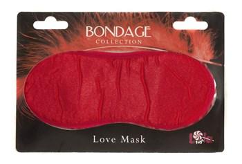 Красная маска на глаза BONDAGE