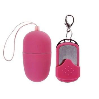 Розовое виброяйцо на пульте ДУ