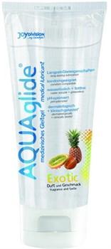 Гель-лубрикант на водной основе AQUAglide с ароматом экзотических фруктов - 100 мл.