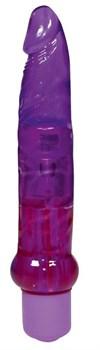 Фиолетовый гелевый анальный вибратор Jelly Anal - 17,5 см.