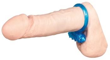 Силиконовое голубое виброкольцо
