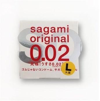 Презерватив Sagami Original 0.02 L-size увеличенного размера - 1 шт.