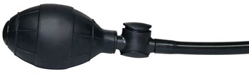 Анальный вибратор с функцией расширения True Black - 17 см.