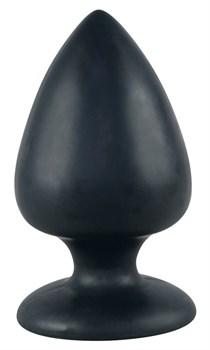Большая чёрная анальная втулка Black Velvet Extra XL - 14 см.