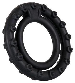 Чёрное кольцо для пениса Steely Cockring