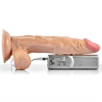 Телесный вибратор-реалистик с присоской Enduro Blaster - 21,5 см.
