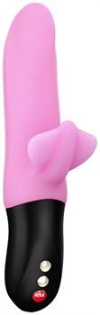 Нежно-розовый пульсатор с клиторальным лепестком Bi Stronic Fusion - 21,5 см.