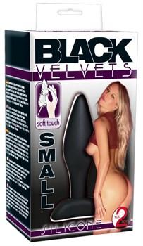 Чёрный анальный стимулятор Silicone Butt Plug Small - 9 см.