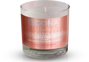 Массажная свеча DONA Vanilla Buttercream с ароматом ванильного крема - 135 гр.