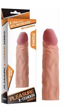 Насадка-фаллоимитатор Super-Realistic Penis - 18,5 см.
