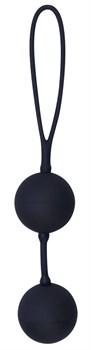 Черные вагинальные шарики с петлёй Black Velvets