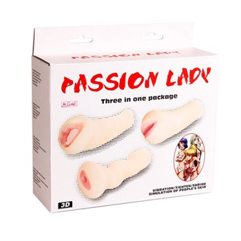 Набор из 3-х мастурбаторов (вагина, ротик и анус) с вибрацией