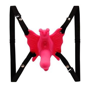 Стимулятор клитора  бабочка  на ремешках с вибрацией
