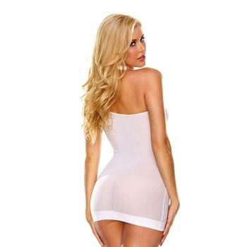 Облегающее полупрозрачное платье на одной лямке