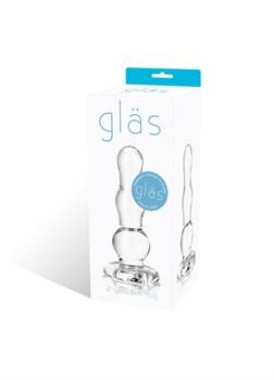 Анальный стимулятор-елочка из прозрачного стекла - 9 см.
