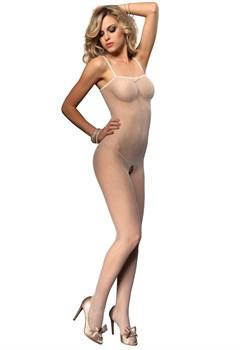 Комбинезон-сетка с открытыми плечами
