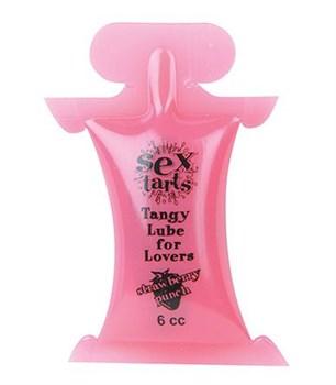 Вкусовой лубрикант с ароматом клубники Sex Tarts Lube - 6 мл.