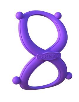 Фиолетовое эрекционное кольцо на пенис и мошонку Infinity Ring