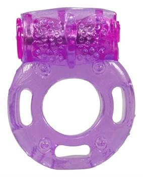 Фиолетовое эрекционное виброкольцо Bliss Mate Vibration Cock Ring