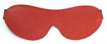 Красная кожаная маска на глаза