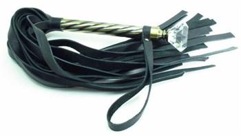 Плеть с широкими хлыстами и металлической ручкой