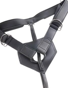 Коричневый страпон на трусиках Strap-on Harness Cock - 20,3 см.
